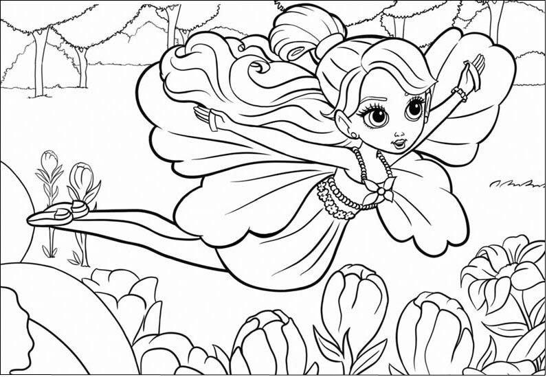 Barbie Polegarzinha Fairytopia Para Colorir E Pintar Brincadeirinhas